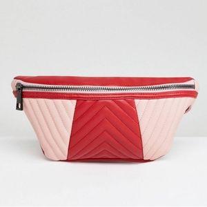 NEW Asos funny pack belt bag red